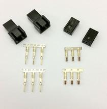 Male & Female 3 Pin Pc Fan Del Power Connectors - 2 Of EACH- Black Inc Pins - $4.22