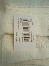 FIELDCREST 2Pc  Towel Set 100%Cotton 1 HAND Towel & 1 Washcloth -ALMOND CREAM- image 6