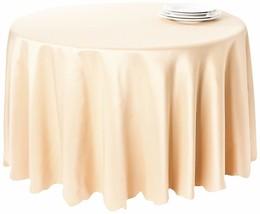 Saro Lifestyle LN201 Round Tablecloth Liners, 120-Inch, Ecru - $29.13