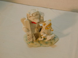 Enesco Polar Bear Angel Figures Skiing - $8.06