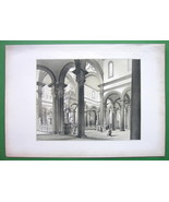 ARCHITECTURE SUPERB PRINT : Italy Florence Interior of San Spirito Church - $26.96
