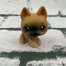 Littlest Pet Shop LPS German Shepherd Dog #61 Brown Black - $11.88
