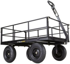 Utility Yard Cart 1,200 lb. Removable Sides Adjustable Handle Steel Mesh... - $3.000,55 MXN