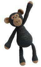 Brown-Black Monkey Handmade Amigurumi Stuffed Toy Knit Crochet Doll VAC - $21.78