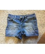 Justice Girl's Blue Jean Shorts Size 12 S Simply Low - $9.00
