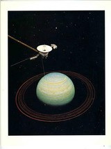 Jet Propulsion Lab NASA Voyager Mission Painting Voyager 2 Encounters Ur... - $49.63