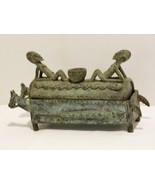 Rare Benin Bronze Horse Drawn Funeral Casket from an Estate Collection - $224.98