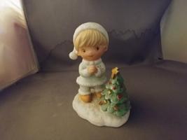 HOMCO #5613 Vintage Christmas/Holiday Set of 3 Snow Children Porcelain F... - $6.00