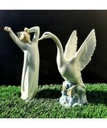 2 NAO by LLADRO Valencia Spain Porcelain Figurine Glazed  - $9.50