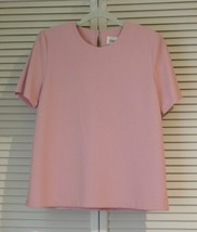 Simply Susan Graver Solid Short Sleeve Shell Toteables Light Pink Rose M... - $29.99
