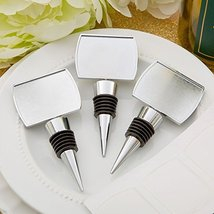 Perfectly Plain Collection Epoxy Dome Chrome Metal Finish Bottle Stopper... - $59.99