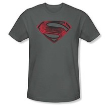 Authentisch Superman Mann aus Stahl Rot & Blk Glyph DC COMICS Film T-Shirt S-3XL - $19.63