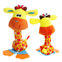 25cm Colourful Animals Infant Baby Rattles Soft Plush Toys Kids Ringbell... - $5.99