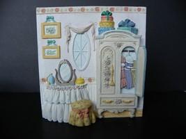 GEORGE Z LEFTON 1992 MEMORIES OF HOME BEDROOM DRESSING AREA 3D PLAQUE ON... - $6.05