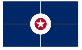 Indianapolis Indiana Flag Sticker Decal F690 - $1.45+