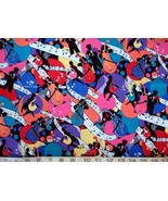 1/2 yard music/colorful jazz musicians/notes quilt fabric -free shipping - $8.99
