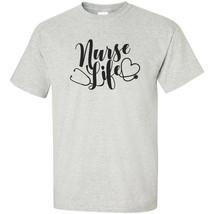 Nurse Life T Shirt Stethoscope Anatomy Caregiver Nursing Scrubs Saving Lives image 2