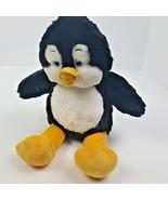 "Build a Bear Stuffed Penguin Sparkle Plush Black & White 16"" Blue Eyes - $14.84"