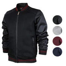 Men's Lightweight Multi Pocket Letterman Varsity Mesh Track Bomber Jacket