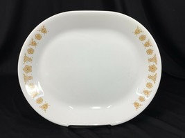 "(1) Corelle Butterfly Gold 12"" x 10"" Oval Serving Platter Made in USA - $14.99"