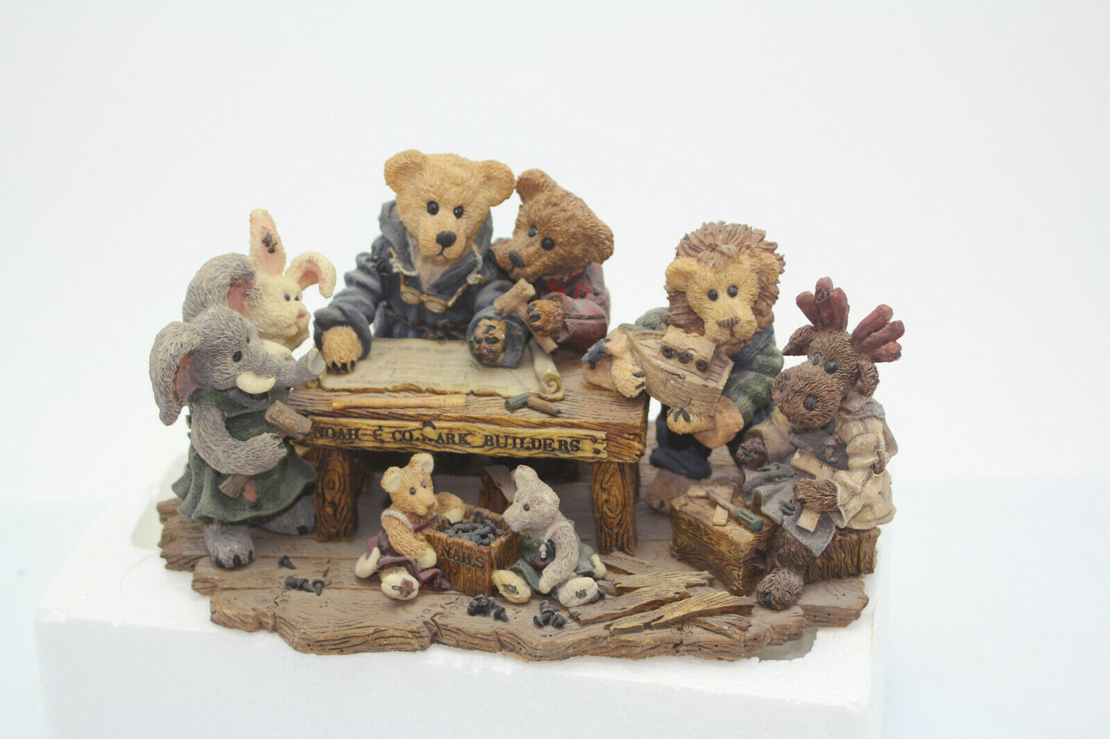 The Boyds Collection Noah & Co. Ark Builders Limited Edition 1996