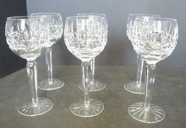 Six Waterford Crystal Cut Wine Hocks - Kylemore Cut Pattern - $218.49