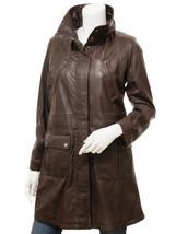 QASTAN Women's New Fashion Stylish Brown Sheep Leather Long Jacket / Coa... - $187.11+
