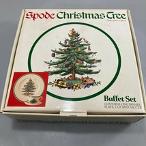 Spode Christmas Tree Buffet Set Dinner Plate Cup & Saucer with Box NEW - $35.77