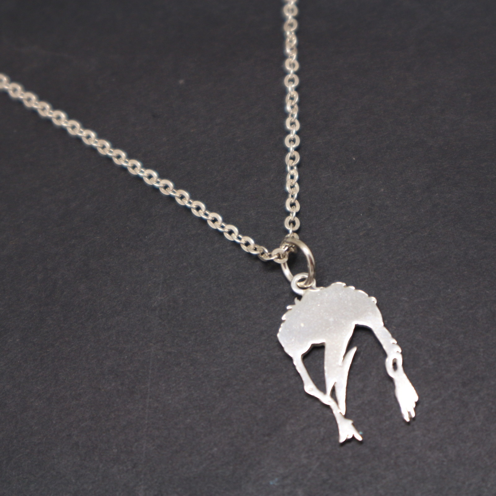 Sterling Silver David Bowie Necklace Pendant - 16,18, 20,22,24 Inch Chain Length