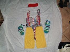 retro aerobics costume headband thong leotard belt shorts puffy socks. L... - $105.00