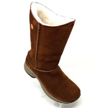 Merrell High Chestnut Suede  Faux Fur Inner Pull On Winter Boots Womens 6.5 M - $52.05