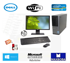 FAST Dell Desktop Computer I3 3RD GEN WINDOWS 10 WIFI LCD+KB+MS LOT - $84.14+
