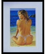 Kate Upton 2018 Topless Thong Swimsuit Framed 11x14 Photo Display  - $32.36