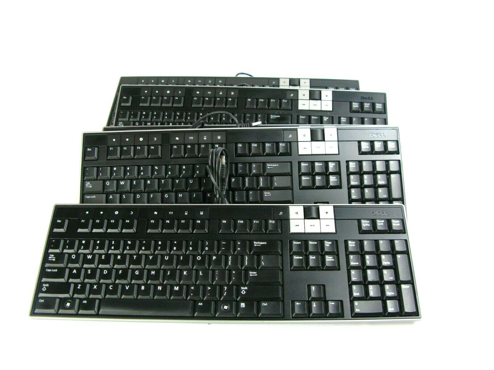 Dell Y-U0003-DEL5 U473D Enhanced Multimedia USB Keyboard 2 USB Ports (Lot of 5) - $23.38