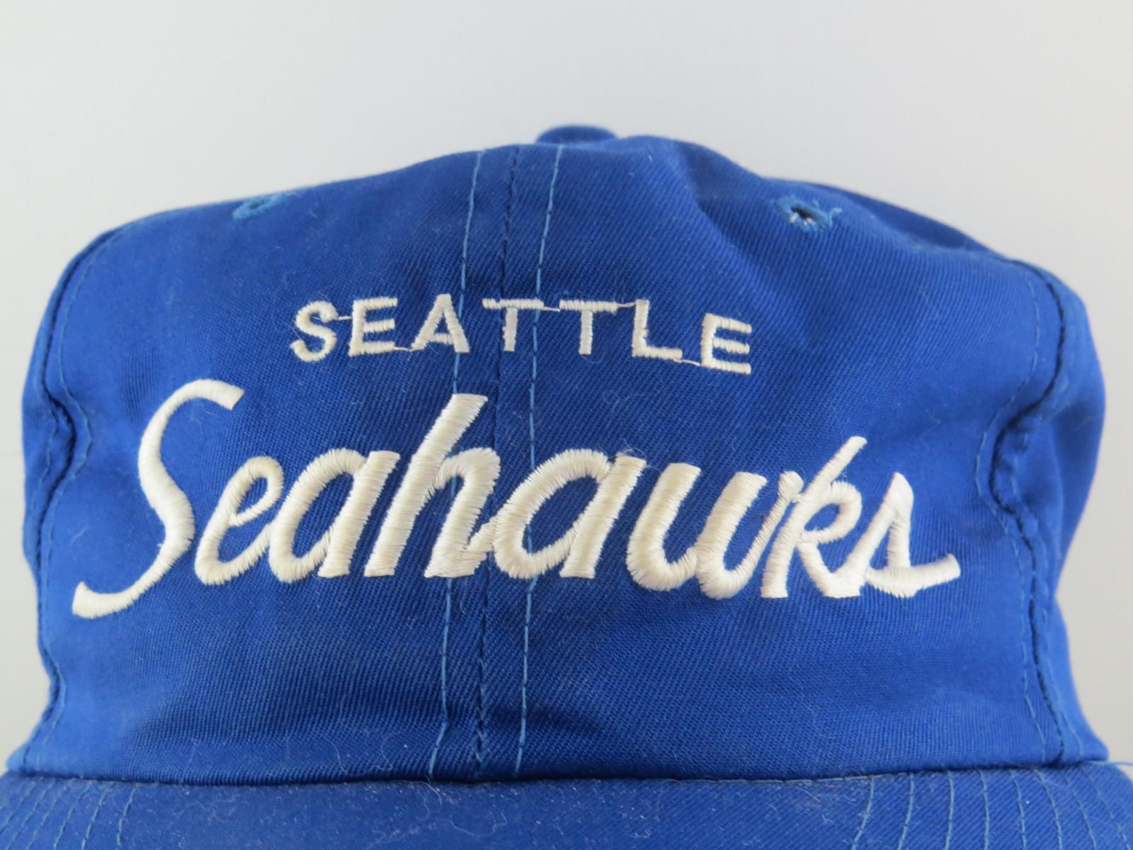 Seattle Seahawks Hat (VTG) - Sports Specialties Twill Script - Adult Snapback