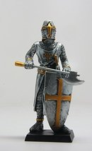 4 Inch Medieval Knight with Axe and Shield Resin Statue Figurine - $12.96