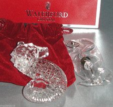 Waterford Crystal Seahorse Christmas Ornament Jeweled Hanger Removable 2012 New - $54.90