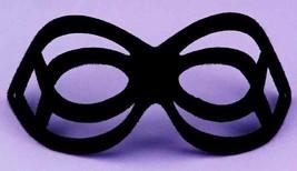 Black Stiffened Fabric Shaped Italian Made Seduction Mask Sexy & Fun@Halloween - $12.09