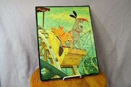 1950's Mid-Century RUFF and REDDY on a Roller Coaster Tray Puzzle Hanna Barbera - $55.24