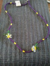 Hand beaded necklace - $10.00