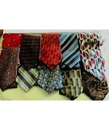 "Silk Tie Lot of 10  4"" Blade Van Heusen Claybrooke Pavone Colours John H... - $29.69"