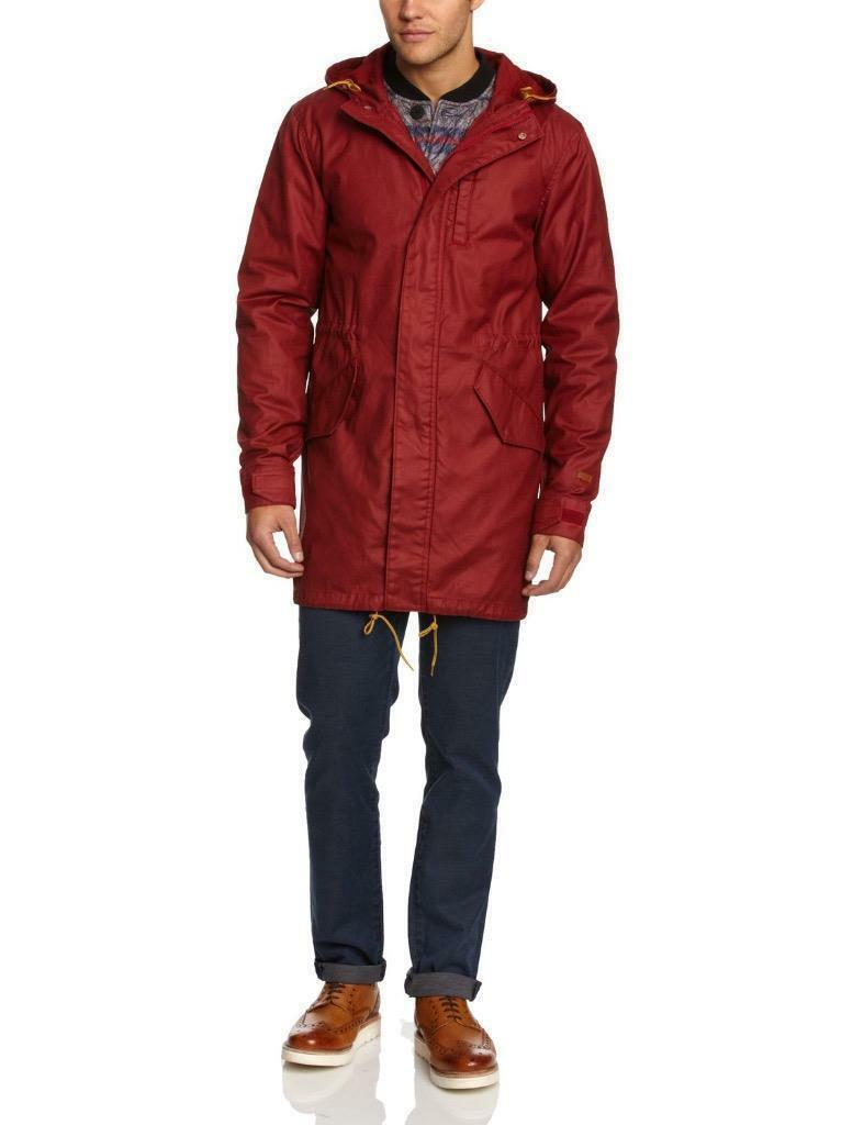 NEW LEVI'S MEN'S PREMIUM 3 WAY HOODED PARKA JACKET COAT RED 718520003 MSRP: $278