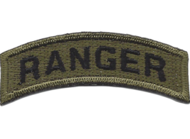 Army Ranger Rocker Od Embroidered Patch - $16.24