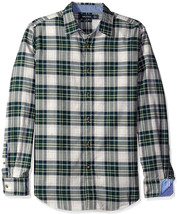 NEW MENS NAUTICA SLIM FIT LONG SLEEVE PACIFIC PLAID BUTTON FRONT SHIRT $79 - $26.99
