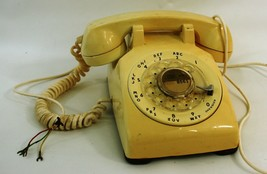 Vintage Yellow Rotary Phone - $37.08