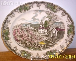 "English STAFFORDSHIRE-VINTAGE Johnson Brothers Friendly Platter 11 3/8"" X 9 3/4"" - $19.95"