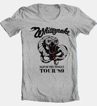 WhitesnakeTour T-shirt 80s heavy metal classic rock grey cotton retro style tee image 2