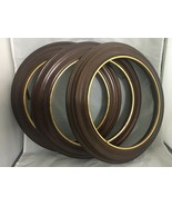 """Round 3 frames for 8 ½"""" collector plats Van Hygan & Smythe Brown with go... - $38.61"""