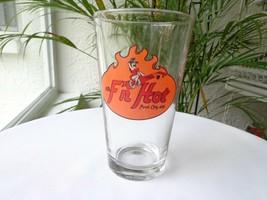 "Budweiser Clear Lager Glass ""F n' Hot!"" Logo - $9.90"