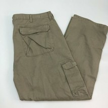 Wrangler Cargo Pants Mens 42X30 Tan Straight Leg Regular Fit 100% Cotton... - $18.95